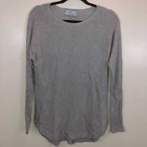 Joan Vass Gray Crewneck Sweater